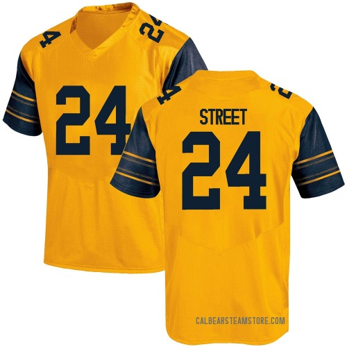 Men's Under Armour Chris Street California Golden Bears Game Gold Alternate Football College Jersey