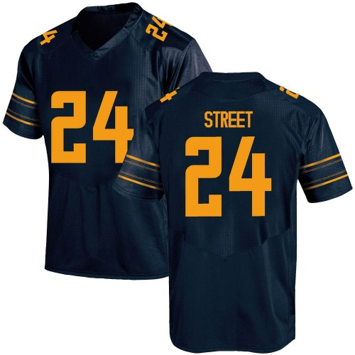 Men's Under Armour Chris Street California Golden Bears Game Gold Navy Football College Jersey