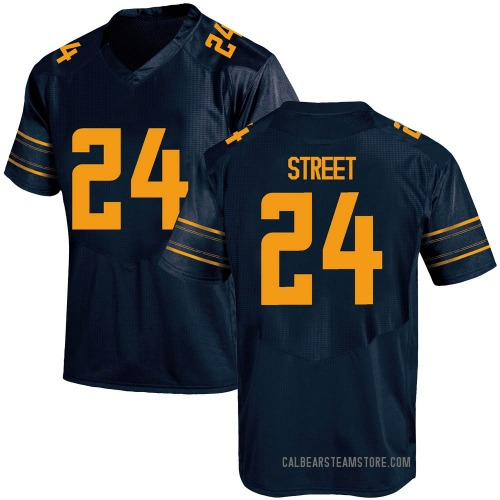 Men's Under Armour Chris Street California Golden Bears Replica Gold Navy Football College Jersey