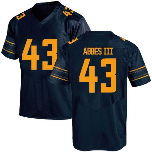 Men's Under Armour Christopher Abbes California Golden Bears Replica Gold Navy Football College Jersey