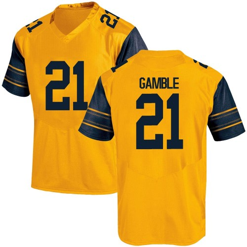 Men's Under Armour Collin Gamble California Golden Bears Game Gold Alternate Football College Jersey