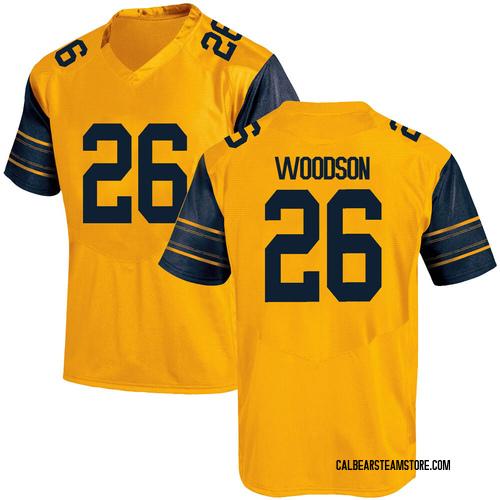Men's Under Armour Craig Woodson California Golden Bears Game Gold Alternate Football College Jersey