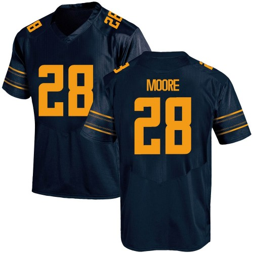 Men's Under Armour Damien Moore California Golden Bears Replica Gold Navy Football College Jersey