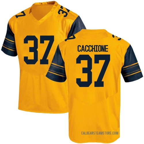 Men's Under Armour Dante Cacchione California Golden Bears Game Gold Alternate Football College Jersey