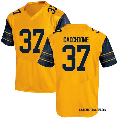 Men's Under Armour Dante Cacchione California Golden Bears Replica Gold Alternate Football College Jersey