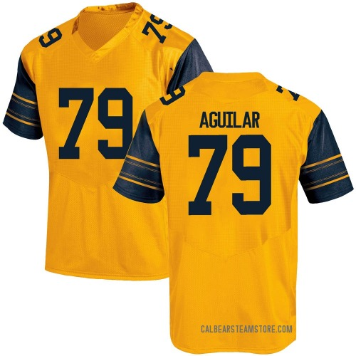 Men's Under Armour Ender Aguilar California Golden Bears Game Gold Alternate Football College Jersey