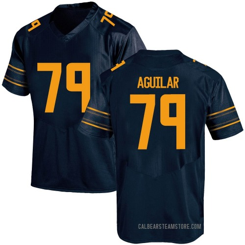 Men's Under Armour Ender Aguilar California Golden Bears Game Gold Navy Football College Jersey