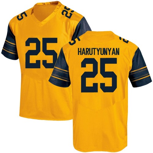 Men's Under Armour Erik Harutyunyan California Golden Bears Game Gold Alternate Football College Jersey