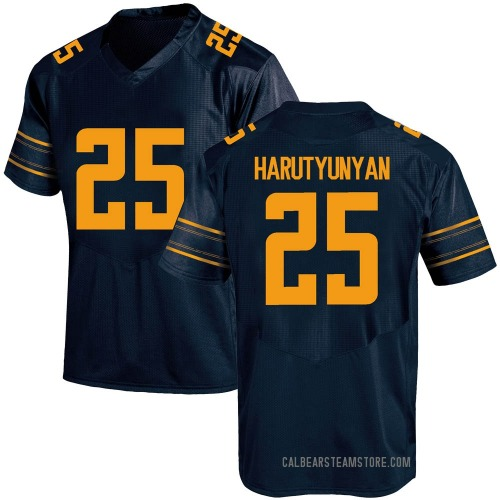Men's Under Armour Erik Harutyunyan California Golden Bears Game Gold Navy Football College Jersey