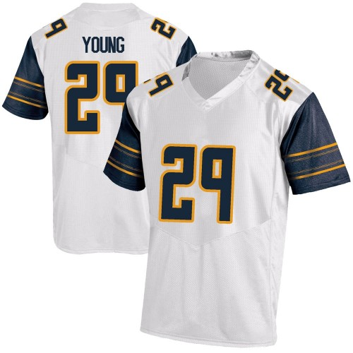 Men's Under Armour Isaiah Young California Golden Bears Replica Gold White Football College Jersey