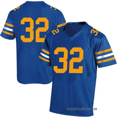 Men's Under Armour JJ Lindsay California Golden Bears Game Gold Royal Football College Jersey