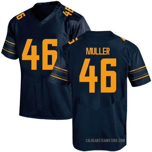 Men's Under Armour Jake Muller California Golden Bears Game Gold Navy Football College Jersey