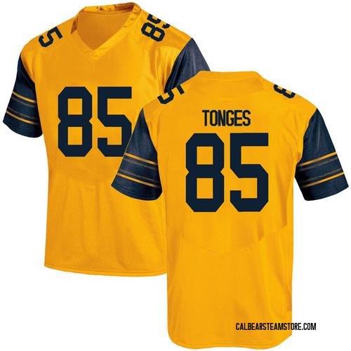 Men's Under Armour Jake Tonges California Golden Bears Game Gold Alternate Football College Jersey