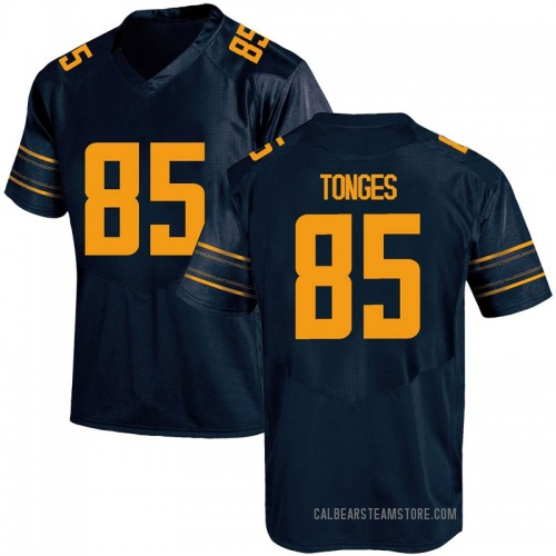Men's Under Armour Jake Tonges California Golden Bears Game Gold Navy Football College Jersey