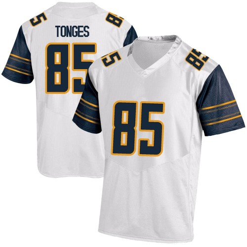 Men's Under Armour Jake Tonges California Golden Bears Game Gold White Football College Jersey