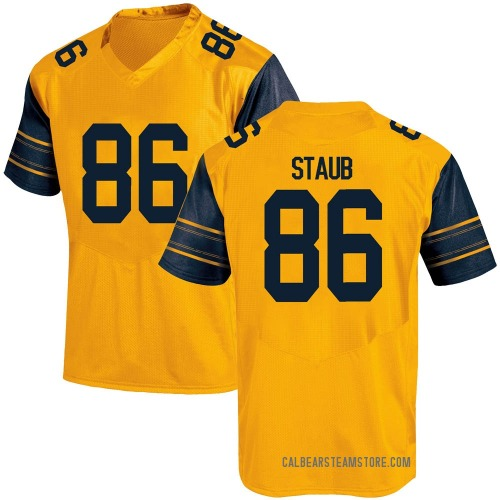 Men's Under Armour Jared Staub California Golden Bears Game Gold Alternate Football College Jersey