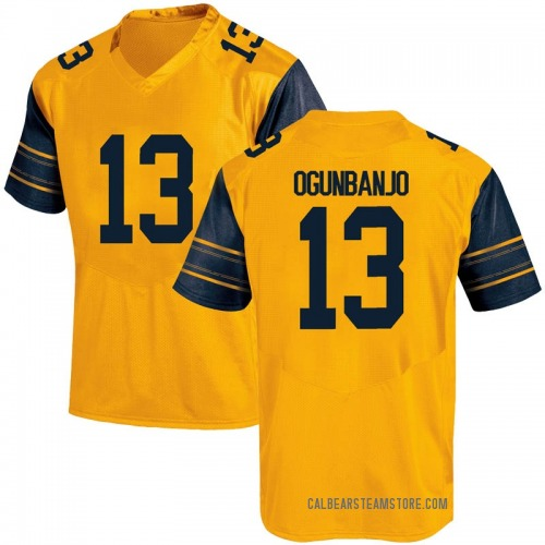 Men's Under Armour Joseph Ogunbanjo California Golden Bears Game Gold Alternate Football College Jersey