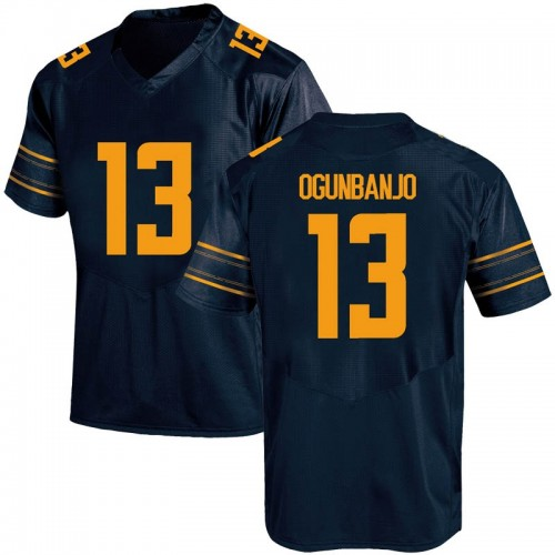 Men's Under Armour Joseph Ogunbanjo California Golden Bears Game Gold Navy Football College Jersey