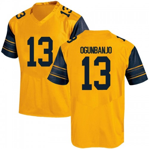 Men's Under Armour Joseph Ogunbanjo California Golden Bears Replica Gold Alternate Football College Jersey
