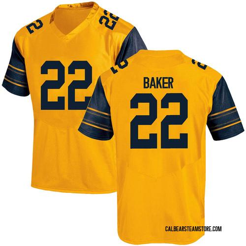 Men's Under Armour Justin Baker California Golden Bears Game Gold Alternate Football College Jersey
