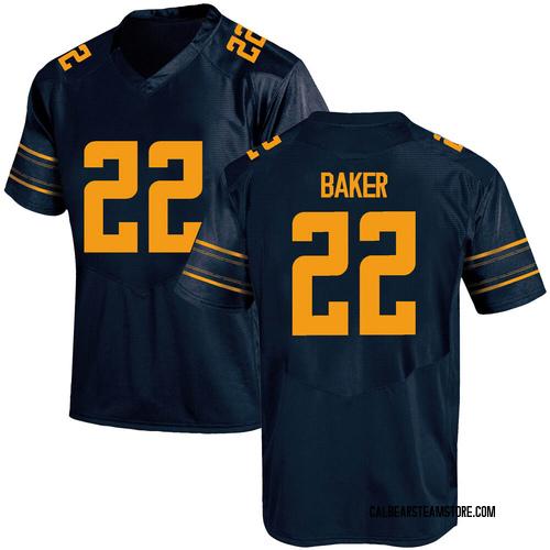 Men's Under Armour Justin Baker California Golden Bears Game Gold Navy Football College Jersey