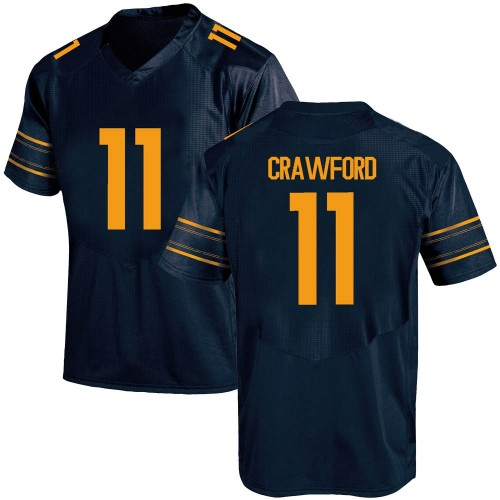 Men's Under Armour Kekoa Crawford California Golden Bears Replica Gold Navy Football College Jersey