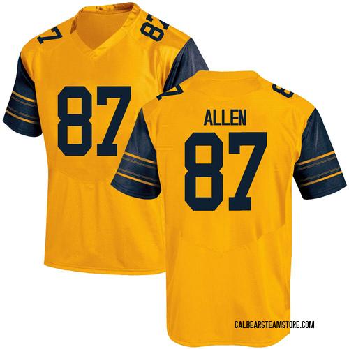 Men's Under Armour Lucas Allen California Golden Bears Game Gold Alternate Football College Jersey