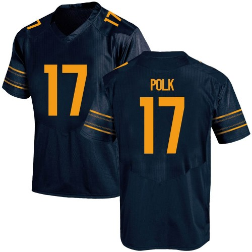 Men's Under Armour Makai Polk California Golden Bears Game Gold Navy Football College Jersey