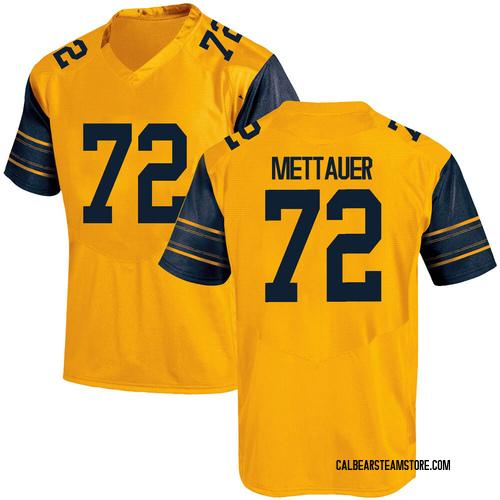 Men's Under Armour McKade Mettauer California Golden Bears Game Gold Alternate Football College Jersey