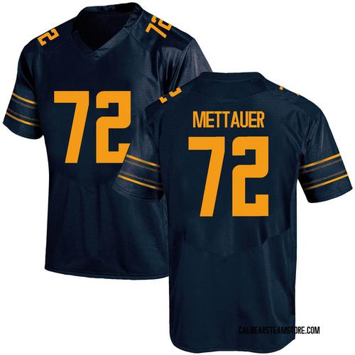 Men's Under Armour McKade Mettauer California Golden Bears Game Gold Navy Football College Jersey