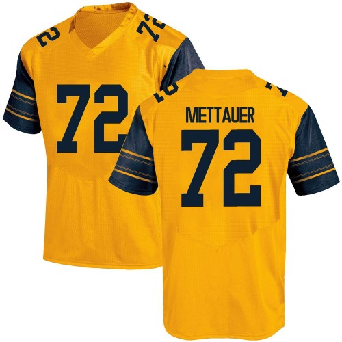 Men's Under Armour McKade Mettauer California Golden Bears Replica Gold Custom Alternate Football College Jersey