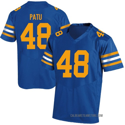 Men's Under Armour Orin Patu California Golden Bears Game Gold Royal Football College Jersey