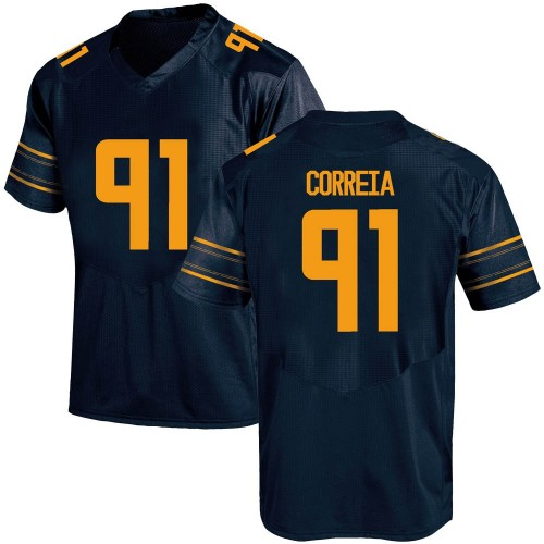 Men's Under Armour Ricky Correia California Golden Bears Replica Gold Navy Football College Jersey