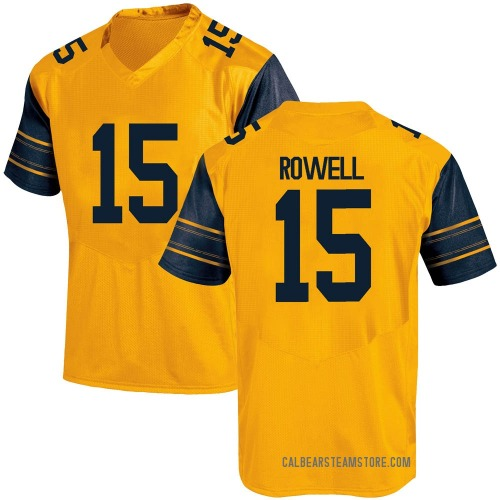 Men's Under Armour Robby Rowell California Golden Bears Game Gold Alternate Football College Jersey