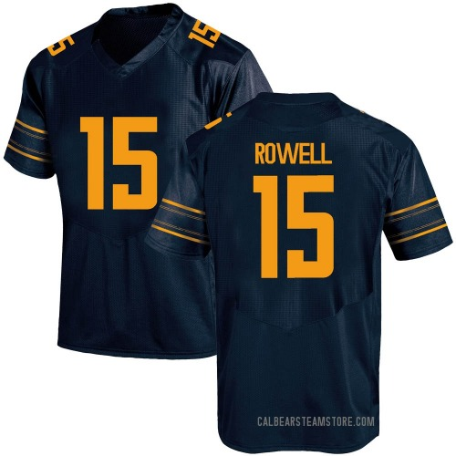 Men's Under Armour Robby Rowell California Golden Bears Game Gold Navy Football College Jersey
