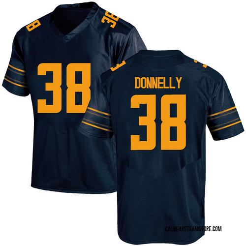 Men's Under Armour Ronan Donnelly California Golden Bears Game Gold Navy Football College Jersey
