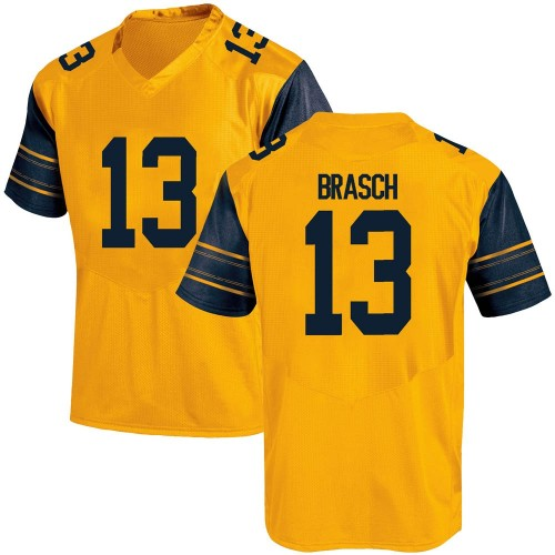Men's Under Armour Spencer Brasch California Golden Bears Replica Gold Alternate Football College Jersey