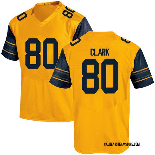 Men's Under Armour Trevon Clark California Golden Bears Game Gold Alternate Football College Jersey