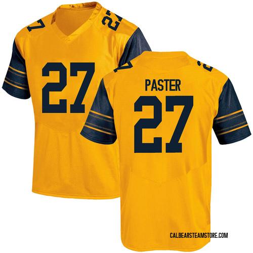 Men's Under Armour Trey Paster California Golden Bears Game Gold Alternate Football College Jersey