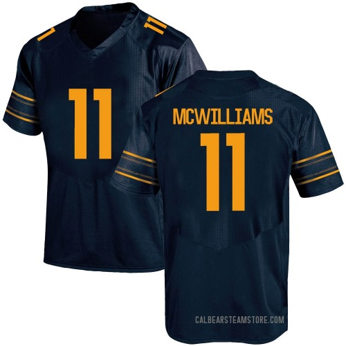 Men's Under Armour Tyson Mcwilliams California Golden Bears Game Gold Navy Football College Jersey
