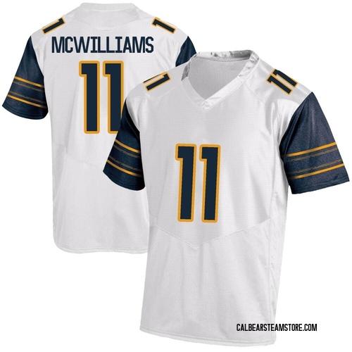 Men's Under Armour Tyson Mcwilliams California Golden Bears Replica Gold White Football College Jersey