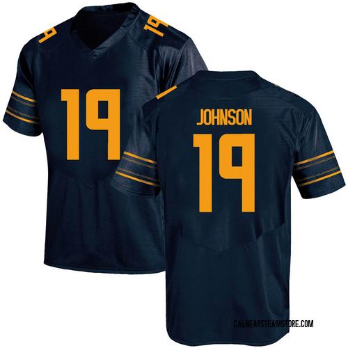 Men's Under Armour Zach Johnson California Golden Bears Game Gold Navy Football College Jersey