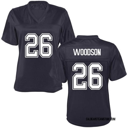 Women's Craig Woodson California Golden Bears Replica Gold Navy Football College Jersey