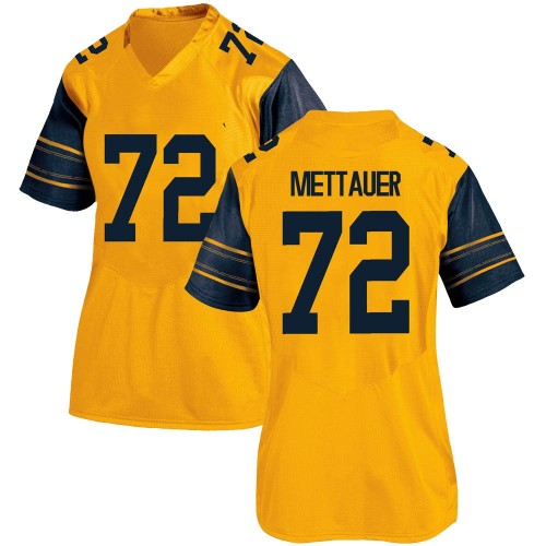 Women's Under Armour McKade Mettauer California Golden Bears Game Gold Alternate Football College Jersey