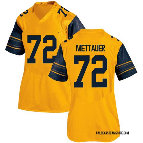 Women's Under Armour McKade Mettauer California Golden Bears Replica Gold Alternate Football College Jersey