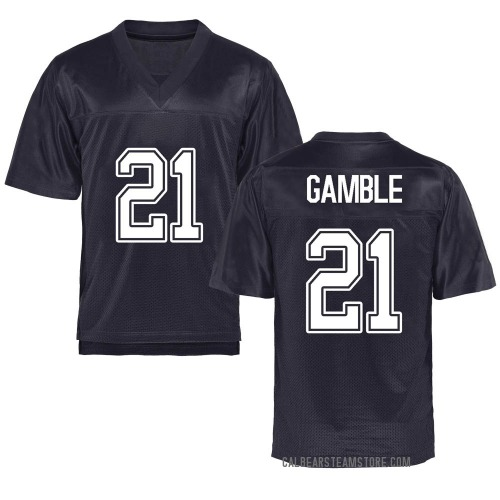 Youth Collin Gamble California Golden Bears Game Gold Navy Football College Jersey