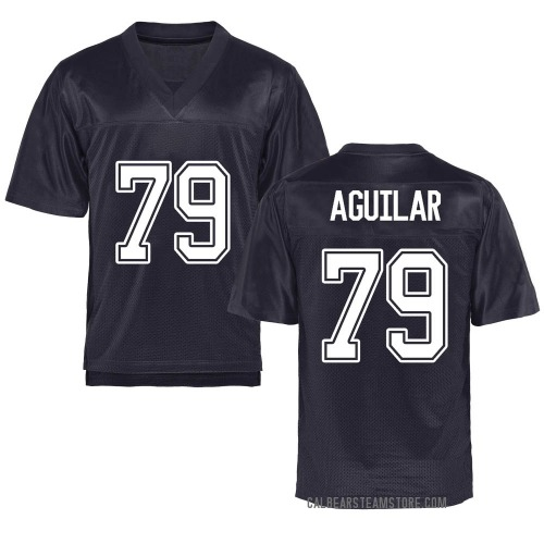 Youth Ender Aguilar California Golden Bears Game Gold Navy Football College Jersey