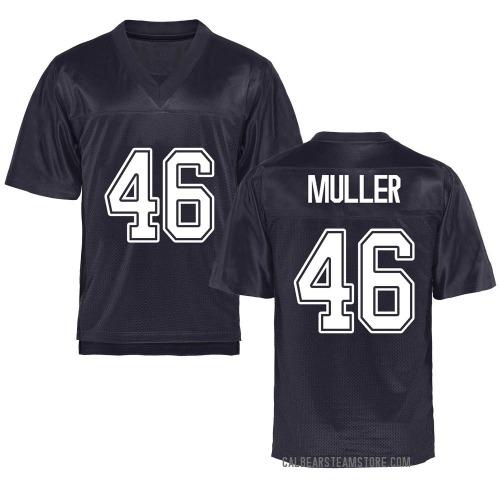 Youth Jake Muller California Golden Bears Replica Gold Navy Football College Jersey