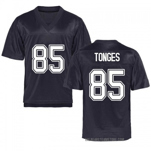 Youth Jake Tonges California Golden Bears Game Gold Navy Football College Jersey