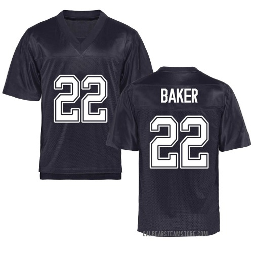 Youth Justin Baker California Golden Bears Game Gold Navy Football College Jersey